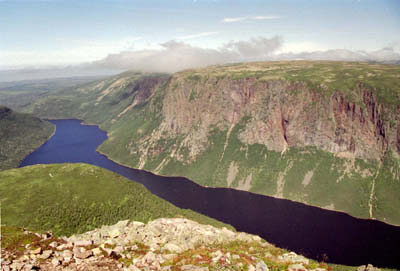 Backside of the top of Gros Morne
